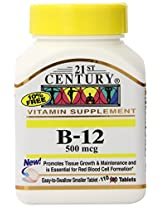 21st Century B-12 500 mcg Tablets, 110-Count (Pack of 2)