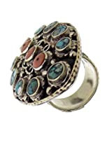 Aabhushan Jewels Silver Plated Tribal Rings For Women