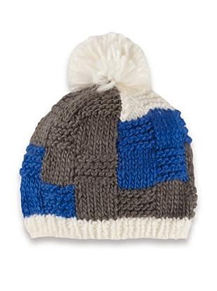 BERETT Gorro Invierno Quadrilon (gris / azul)