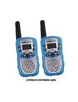 Zomei T388 2 Pcs Mini Walkie Talkie 3 5 Km Range 22 Channel Frs/Gmrs Uhf Two Way Radios Coloful Walkie Talkie For Kids(Blue)
