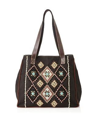 Mare Sole Amore Women's Diamond Tote Bag (Black)