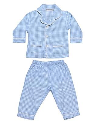 Allegrini Pigiama da Neonato Flanella 100% Cotone Charly (Azzurro)