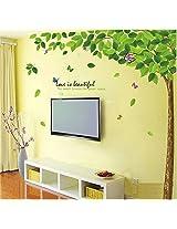 Wallcano Decals Design Bestselling Green Leaves Tree 9011 Wall Sticker