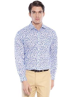 Hackett Camisa Estampada (Azul)
