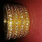 Gold Gold Plated Traditional Bangle Set of 12