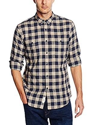 Dockers Camicia Uomo Coastal Twill Link Steelhead Plaid