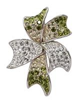 Affra FashionwareSterling silver swarovski crystals flower pendant