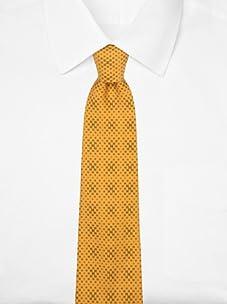 Hermès Men's Mini Logo Tie (Orange/Gray)