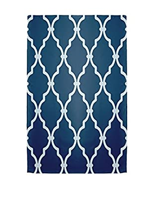 e by design Palace Rug, Blue/Ivory