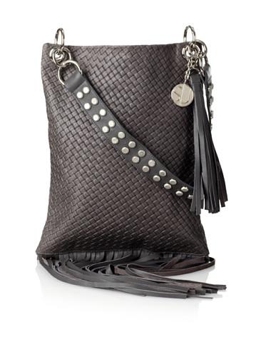 Stella & Jamie Women's Boha Woven Fringe Bag (Dove)