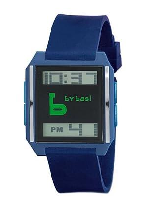 BY BASI A0861U05 - Reloj Unisex movi cuarzo correa poliuretano Azul / Verde