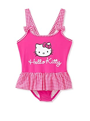 Hello Kitty Girl's 2-6X Picnic Party One Piece Swimsuit (Pink)