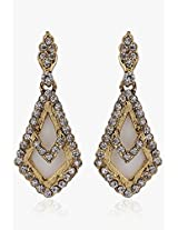 Alloy Earring With White Colour Stone NIKI Jewels