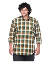 Ciroco Green Plus Size Checks Shirt for Men_C_010_GREEN_4XL