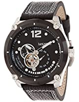 Lancaster Trendy Leather Strap Analogue Black Men's Wacth-OLA0383L/NR