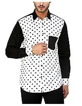 See Designs Men Buttoned Shirt (SDMDWSS15SH619_S, WHITE, S)