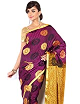 Floral Silk Saree Collections-Maroon-MUS51-VS-Georgette