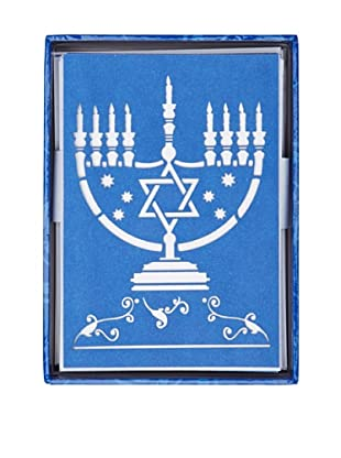 Peter Pauper Press 4 Boxes of Laser-Cut Hanukkah Menorah Cards