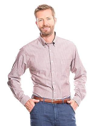 Cortefiel Camisa Oxford (Marrón Oscuro)