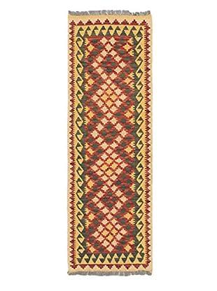 Hand-Woven Anatolian Kilim, Light Gold/Red, 2' 2