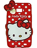 MACC Designer Soft Back Cartoon Cover Case Silicon 3D For Samsung I9100 Galaxy S2 - HKWP RED