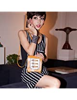New Fashion Korean Lady Women Brown Fish Style PU Leather Clutch Purse Wallet Evening Bag