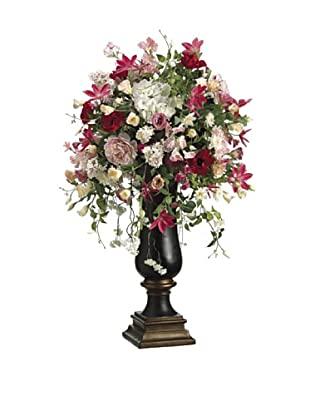 Allstate Floral Peony, Hydrangea, Clematis & Lilac in Resin Vase, Pink Fuchsia