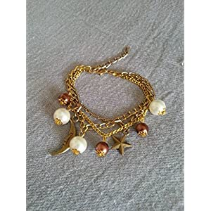 Knickknack Pearl, Star, Moon Charmed Bracelet Bracelet