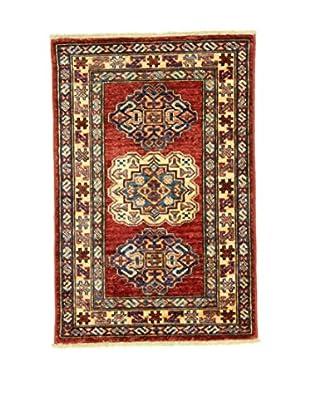 L'EDEN DEL TAPPETO Alfombra Kazak Super Rojo 59 x 89 cm