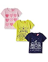 Little Kangaroos Baby Boys' T-Shirt (Pack of 3)