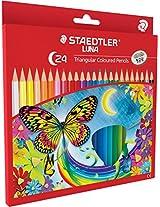 Staedtler Luna School Triangular colour pencils set of 24 colours