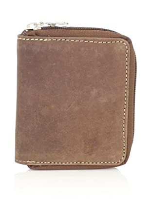 J. Campbell Los Angeles Men's Zippered Wallet (Brown)