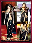 Priyanka Chopra Bollywood Style Saree Black