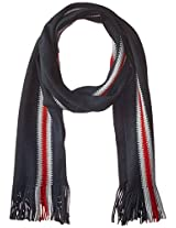 Tommy Hilfiger Men's Textured Stitch Vertical Scarf