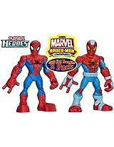 Playskool Heroes Marvel Spider-Man Adventures Spider-Man Figures Twin Pack Gift Set Bundle - 2 PackFigure