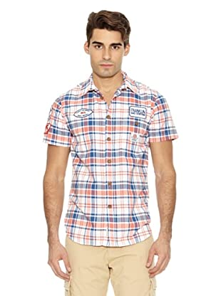 Franklin & Marshall Camisa Orange Cuadros (Azul / Coral)