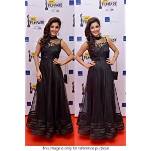 Bollywood Replica Isha Talwar Net Suit In Black Colour NC454