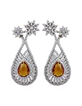Dilan Jewels HAPPINESS collection Golden Stone Silver Shimmer Floral Earrings For Women
