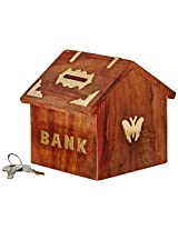 ITOS365 Handicrafted Wooden Money Bank Kids Piggy Coin Box Gifts Butterfly Home