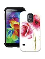 TRIDENT Samsung Galaxy S V Aegis Case - Retail Packaging - Red Poppies