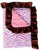 Caden Lane Boutique Collection Ruffle Blanket, Pink Zebra