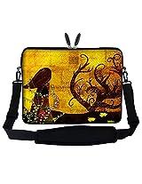 Meffort Inc 17 17.3 inch Neoprene Laptop Sleeve Bag Carrying Case with Hidden Handle and Adjustable Shoulder Strap - Gustav Klimt