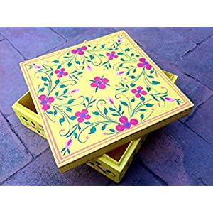 Uru Products Hand Painted Rectangle Box