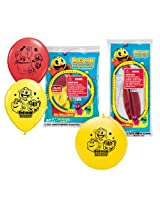 Pioneer National Latex Pac Man Party Pack, (6 Balloons/4 Punch Balls)