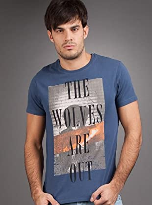 Pepe Jeans London Camiseta R.I.P. (Azul)