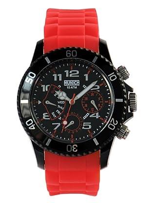 Munich MU119.4A - Reloj Unisex movimiento de quarzo con correa de caucho rojo
