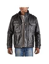 Yas Fashions Men's Slim Fit Leather Winter Jacket ( Y10-XXXXX Large_Black_XXXXX-Large )
