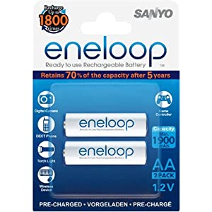 Sanyo eneloop rechargeable battery HR-3UTGB2BTM 2PCS AA