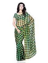 JTInternational Silk Self Print Saree (223C_Multicolor)