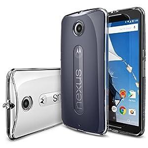 [Free Screen Protector] Nexus 6 Case - Ringke FUSION Nexus 6 Case [Dust Cap/Drop Protection Series][CRYSTAL] Shock Absorption Bumper Premium Hard Case for Google Motorola Nexus 6